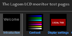 The Lagom LCD monitor test pages