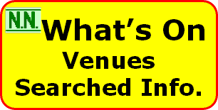 A list of the venues searched for the What's On articles with addresses.